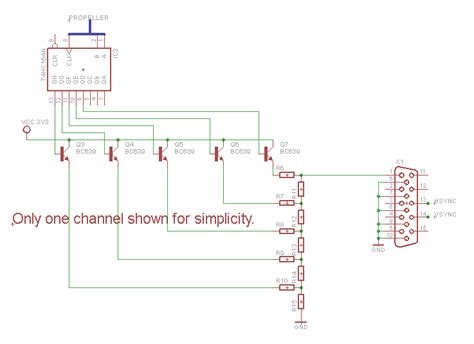 vga resistor network designing a vga dac for the propeller parallax forums