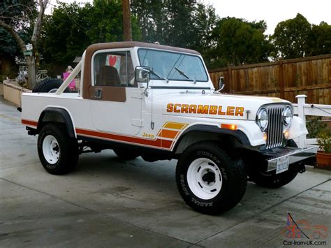 scrambler jeep 1984 jeep cj8 scrambler laredo package full restoration