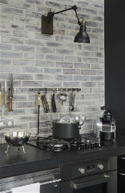 grey brick backsplash coloring grey and classic on