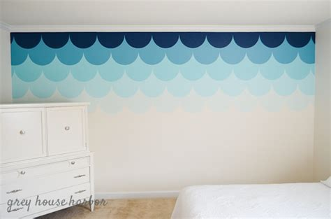 ombre walls tutorial ombre scallop wall a tutorial grey house harbor