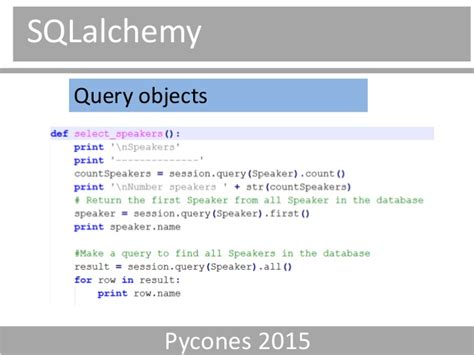 sqlalchemy tutorial query python comparing orm