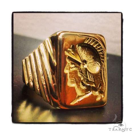 mens custom jewelry gladiator ring mens ring yellow