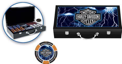 Harley Davidson Chip Set by Harley Davidson Lightning 300 Casino Chip Set Ebay