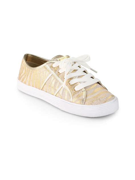 metallic gold sneakers kors by michael kors snapdragon metallic
