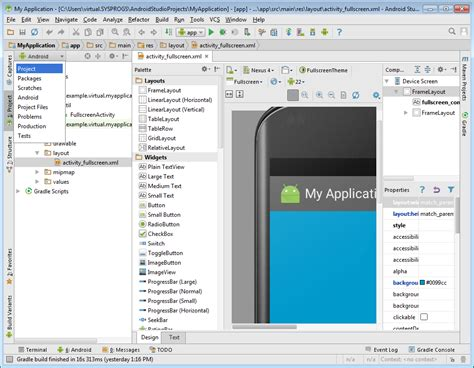 tutorial android visual studio 2015 co developing android projects with gradle flavors with