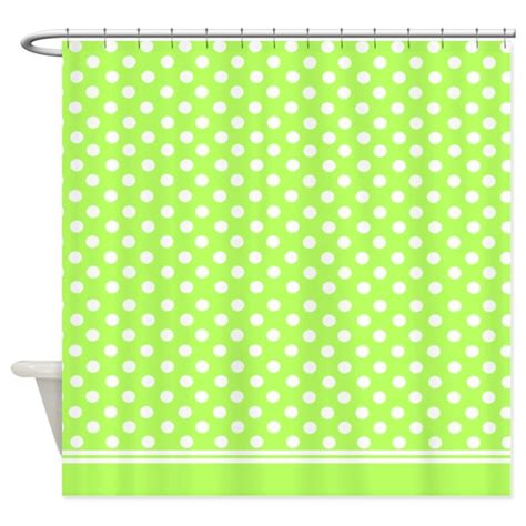 lime shower curtain lime green polka dots shower curtain by inspirationzstore