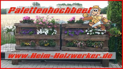 Sichtschutz Aus Paletten by Palettenhochbeet Sichtschutz Aus Paletten