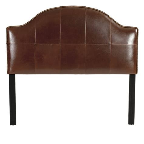 Leather Nailhead Headboard Camden Leather Headboard With Nailheads Ballard Designs