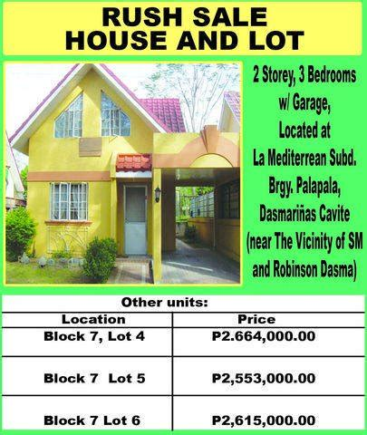 buy and sell house and lot house and lot rush sale for sale from cavite adpost com