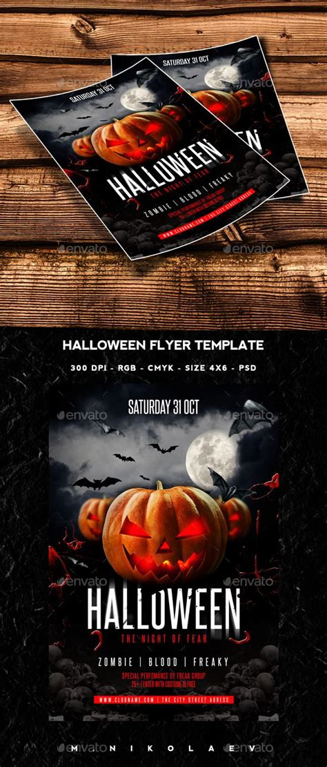 halloween flyer flyer template