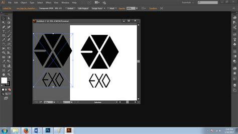membuat logo dengan adobe illustrator membuat logo exo dengan menggunakan adobe illustrator part