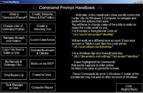 cmd for android command prompt handbook android apps on play
