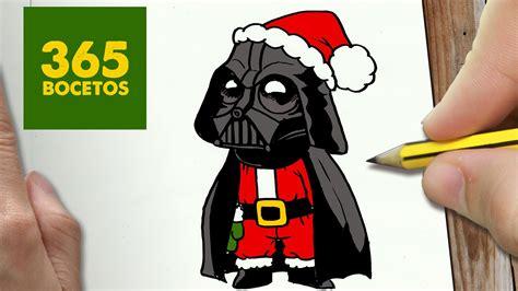 imagenes de darth vader kawaii como dibujar a darth vader para navidad paso a paso