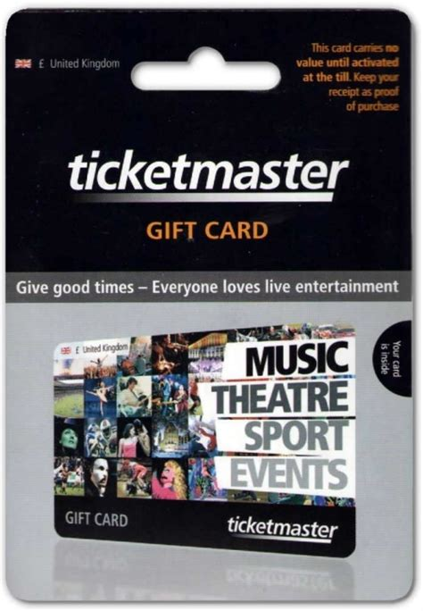 Master Gift Card - thegiftcardcentre co uk ticketmaster gift card