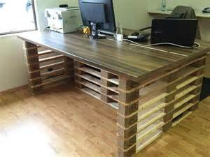 Office Desk Made From Pallets Pallet Office Table And Pallet Office Desk Pallets Designs
