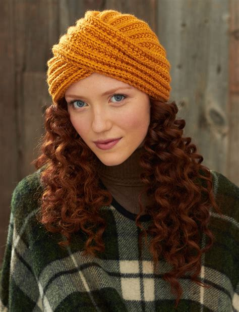 how to knit a turban hat bernat turban twist hat knit pattern yarnspirations
