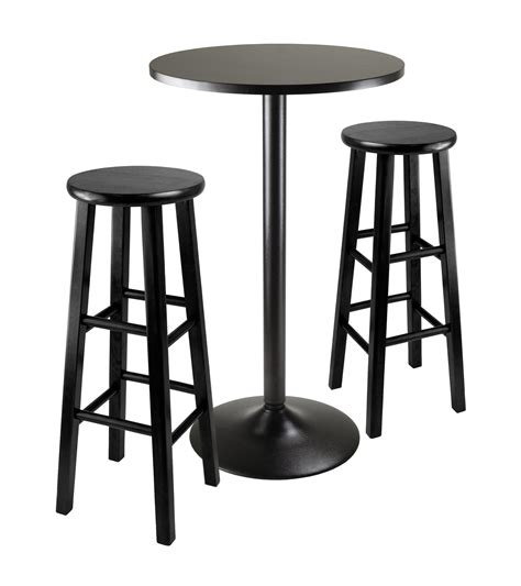Black Bar Table Winsome Wood Obsidian 3 Black Pub Table Set By Oj Commerce 20331 251 46