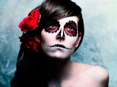 imagenes de halloween para el rostro maquillaje de fantasia de la catrina