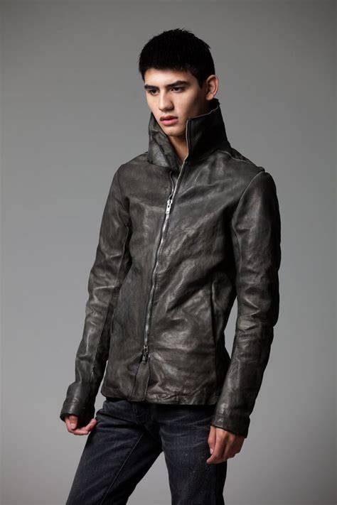 Just Say No To Sleeve Jackets by A1923 Augusta High Collar Leather Jacket In