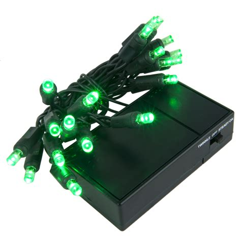 battery operated lights 20 green battery operated 5mm led christmas lights green wire