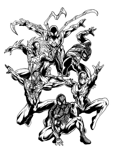 14 images of deviantart coloring pages of spider man 2099