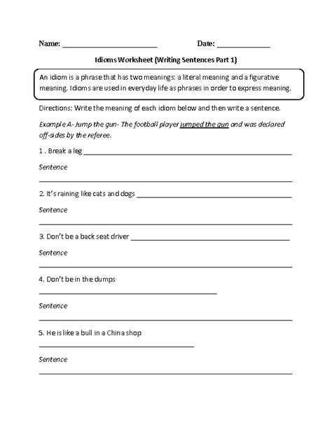 Speech Worksheets by Englishlinx Figures Of Speech Worksheets