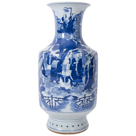 Large Blue And White Vases by Early 19th C Large Vase Blue And White Porcelain Qing Dynasty At 1stdibs