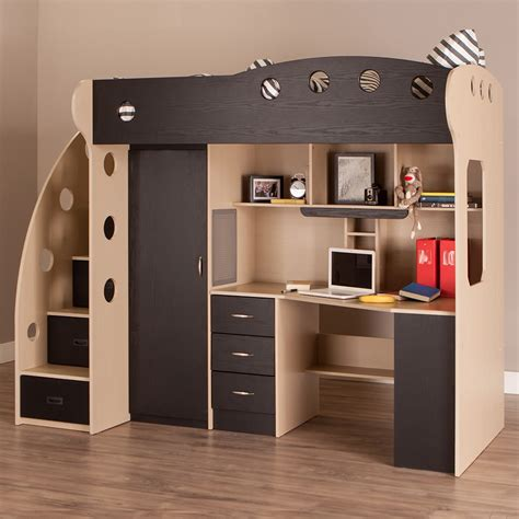 full size bunk bed with desk underneath loft beds with desk and storage medium size of bunk