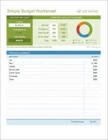 Simple Excel Budget Template Simple Budget Worksheet Template