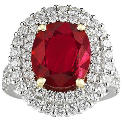 Ruby 5 95 Carat 3 95 carat burma ruby ring at 1stdibs