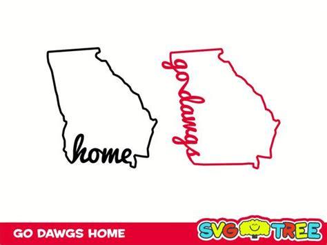 home sweet home georgia bulldogs love  dawgs svg dxf