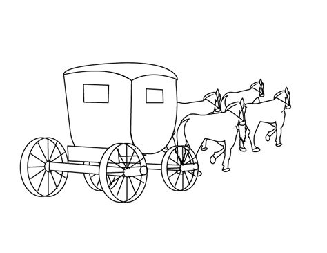 coloring pages and carriage carriage coloring pages