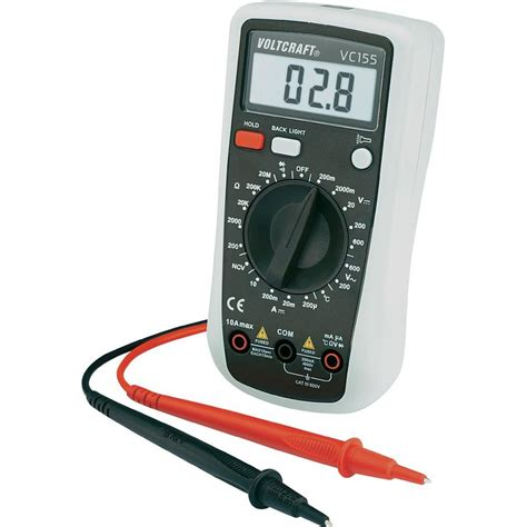 Multimeter Digital Handheld Multimeter Digital Voltcraft Vc155 Calibrated To