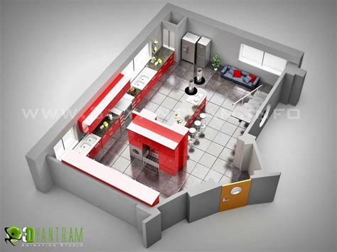 Floorplan Design Of Kitchen By Yantram 3d Floor Plan Home Design 3d Two Floors