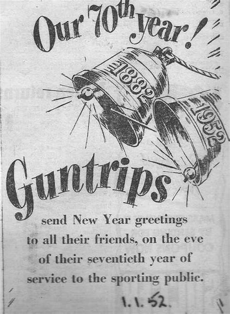 new year 1952 the history of t guntrip ltd s oldest