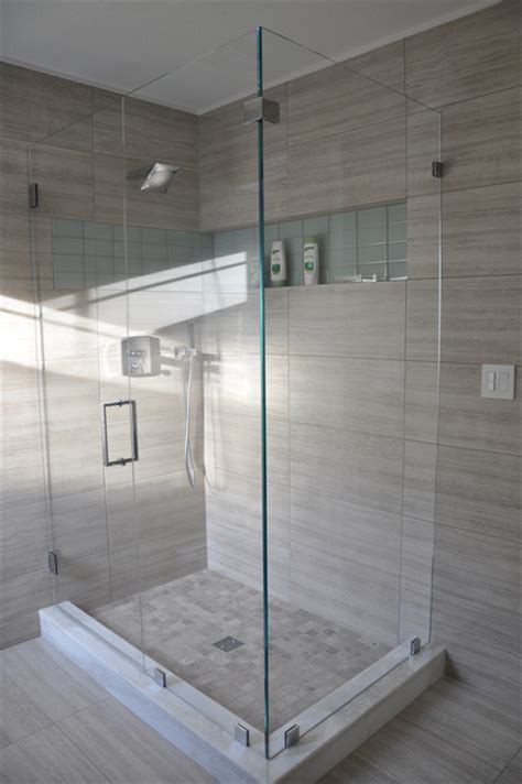 Bathroom Tile Ideas Houzz New Bathroom Contemporary Shower Stalls And