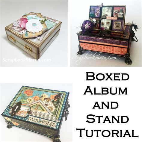 scrapbook maven tutorial boxed album cover and stand tutorial scrapbook maven