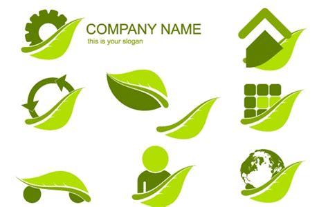 design for environment companies ecology logo set free vector logo template