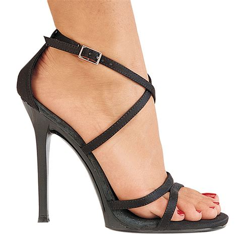 Murano Sandal Heels 5 Cm Black Black 11 5 Cm Gala 41 High Heeled Stiletto Sandal Shoes