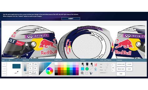 Helmet Design Software | infiniti launches contest to design sebastian vettel s