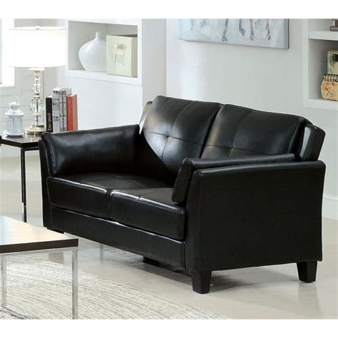 black tufted loveseat furniture of america tonia leather tufted loveseat in