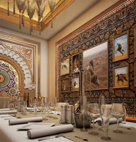 Arabian Dining Room Decor Small Banquet Room Arabic Style Restaurant Interior By