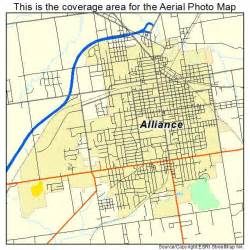 alliance map aerial photography map of alliance oh ohio