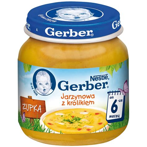 puree nestle gerber soup rabbit  vegetables