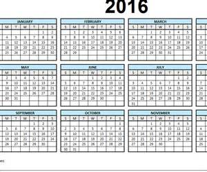 Single Page Calendar Template by 2016 Calendar Excel One Page