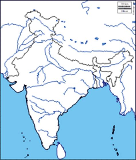 Rivers Of India Map Outline by India Free Maps Free Blank Maps Free Outline Maps Free Base Maps