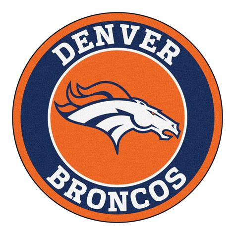 Funny Doormat by Denver Broncos Logo Roundel Mat 27 Quot Round Area Rug