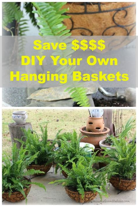 Make Your Own Hanging Planter | making your own hanging planter baskets money ferns and
