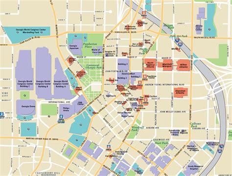 street map of downtown atlanta georgia street map of downtown atlanta georgia