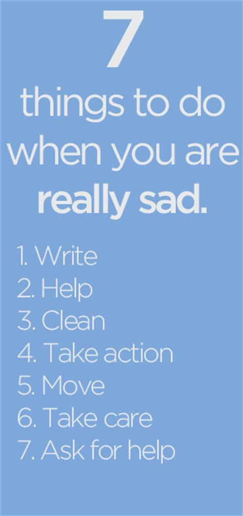 7 Things That Are Not So by 7 Things To Do When You Are Really Sad Be More With Less